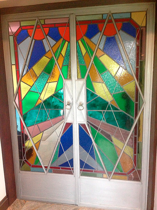 stained glass door restoration