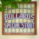 leaded glass panel Bullards & sons special stout