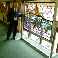 RREC headquarters receives Rolls Royce stained glass