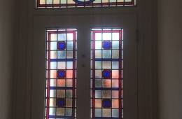 Bespoke stained glass for Reigate